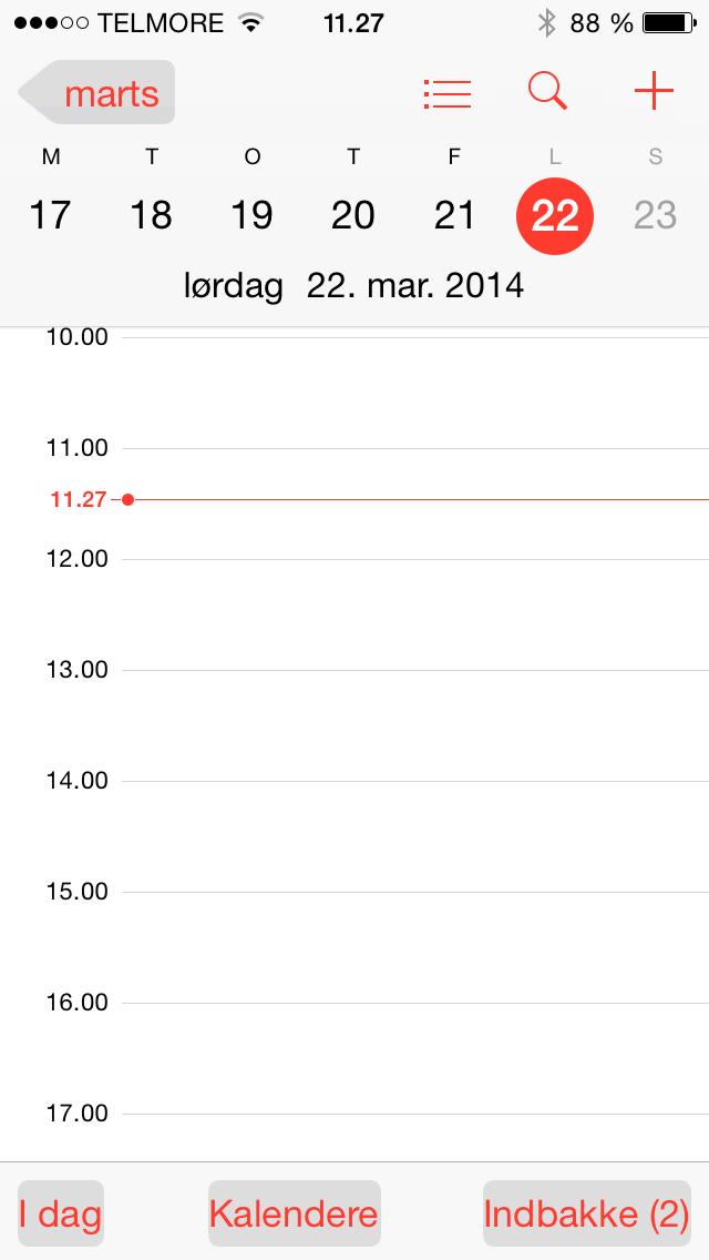 iOS7kalender